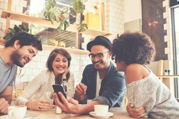 Millennials at a coffee shop