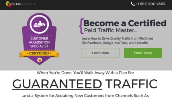 DigitalMarketer certification