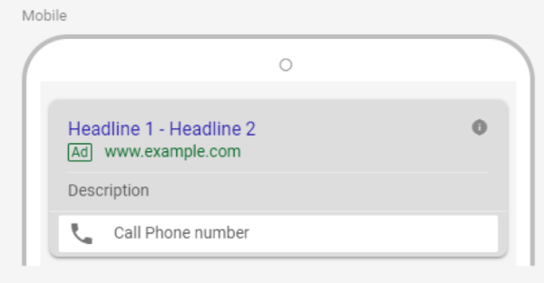 call directly from SERPs