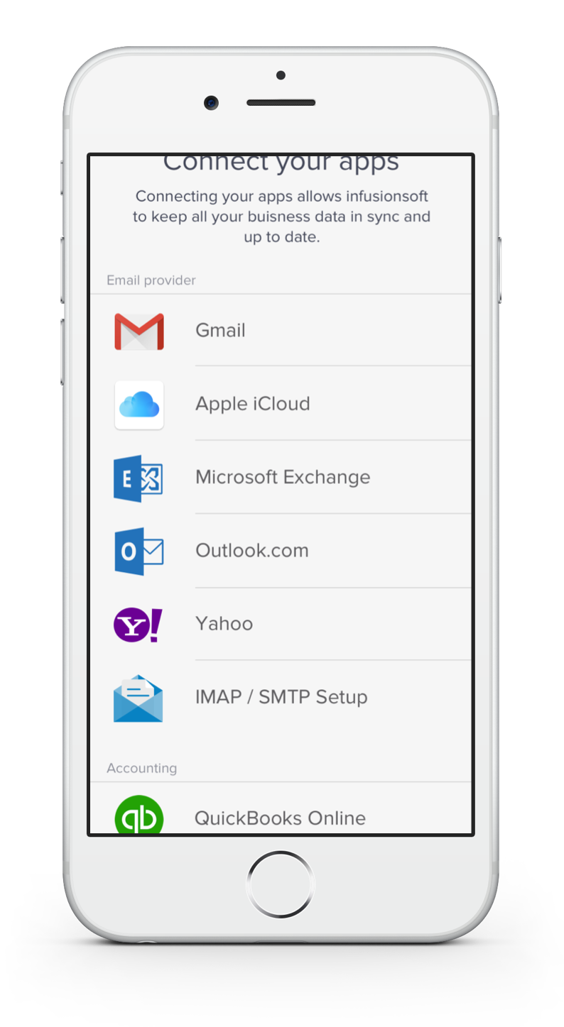 Connected apps in new Infusionsoft app