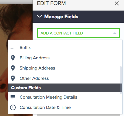 manage fields