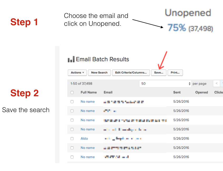 Infusionsoft email batch results