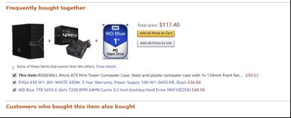 Amazon cross-sell