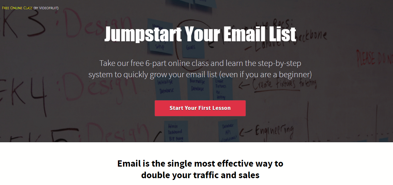 email list sign up