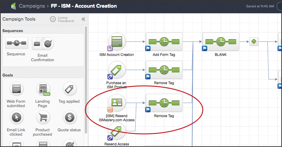 Infusionsoft account creation