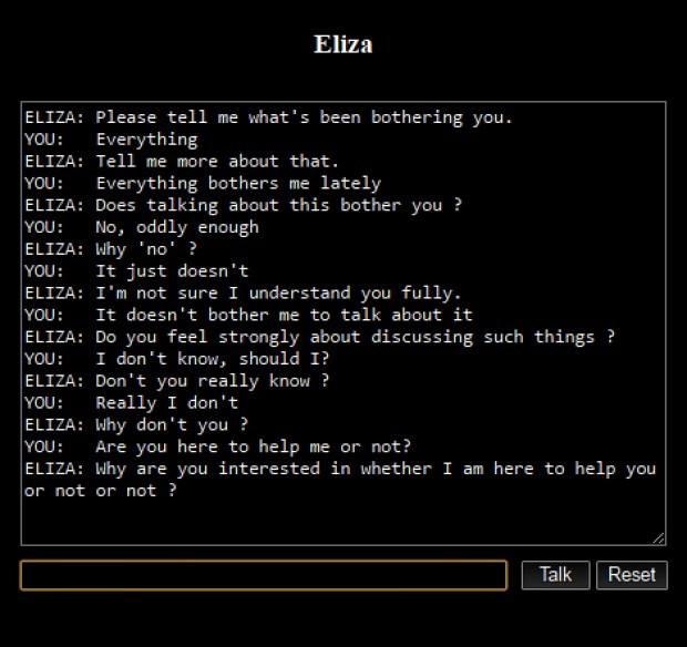 ELIZA chatbot