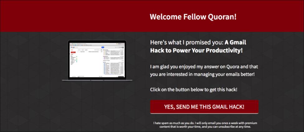 Quora landing page