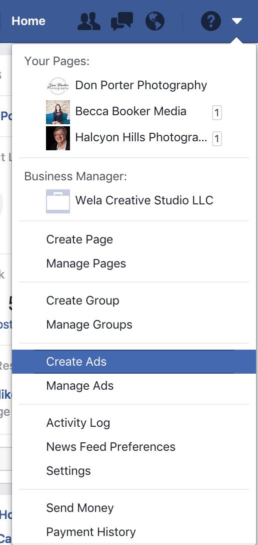 create ads facebook