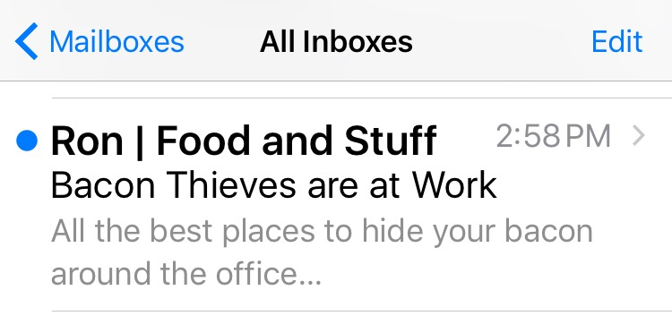 ron swanson email example