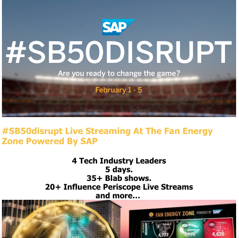 SAP Super Bowl Disrupt